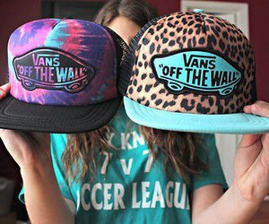 vans, cap, and cool image
