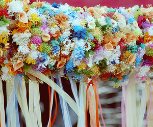 crowns, flowers, and ribbons image