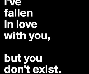 love, exist, and words image
