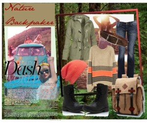 fashion, nature, and backpacker image