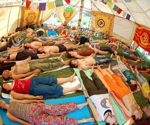 hippie, hippies, and sleeping image