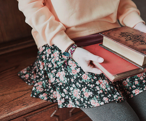 book, vintage, and skirt image