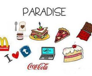 paradise, chocolate, and food image
