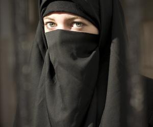 hijab, burka, and islam image