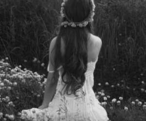 beuatiful, flowers, and long hair image