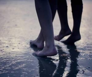 feet, love, and beach image