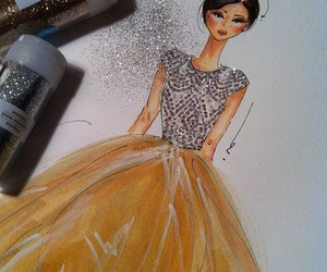 fashion, glitter, and lovely image