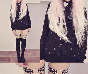 pastel goth, black, and goth image