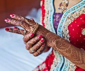 beautiful, bride, and colorful image