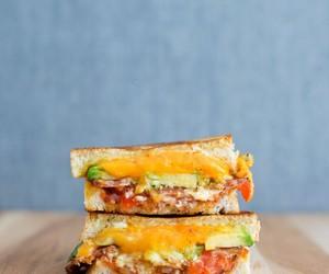 avocado, feta, and sandwich image