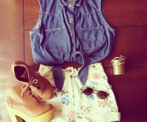 denim, outfit, and fashion image