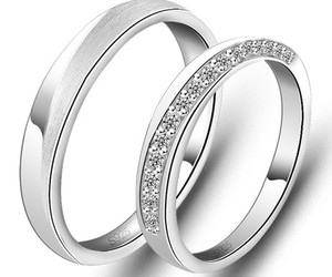 promise couple rings, personalized couple rings, and commitment couple rings image