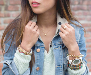 blogger, denim jacket, and song of style image