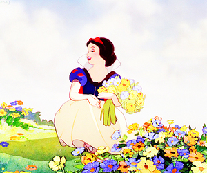 snow white, disney, and flowers image