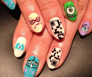 nails, disney, and monster image