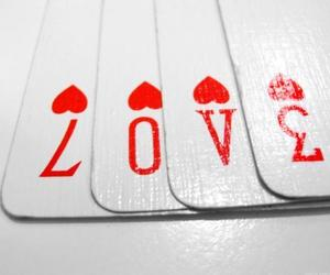 cards, heart, and white image