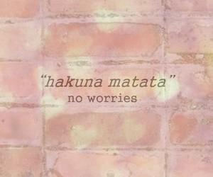 hakuna matata, disney, and no worries image