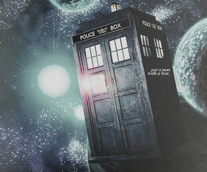blue, madman, and doctor who image