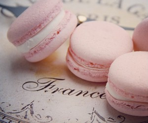 pink, france, and food image
