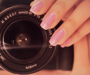 camera, nails, and pink image