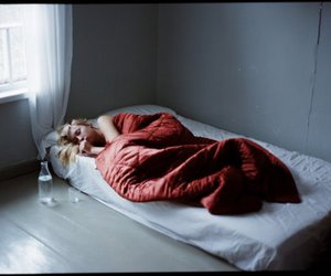 bed, girl, and photography image