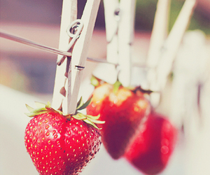 red, strawberry, and cute image