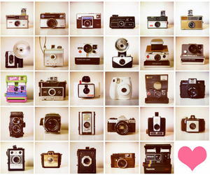 camera, pink, and vintage image