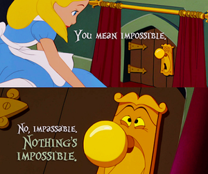 disney, alice in wonderland, and impossible image