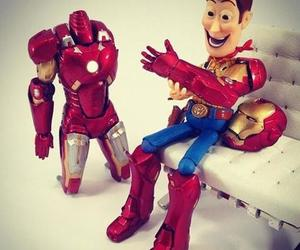 toy story, iron man, and woody image