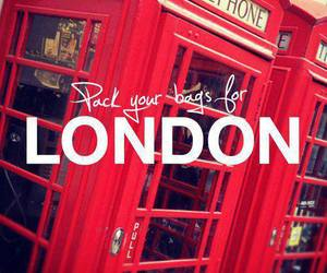 london, red, and bag image