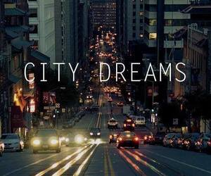 city, night, and dreamer image