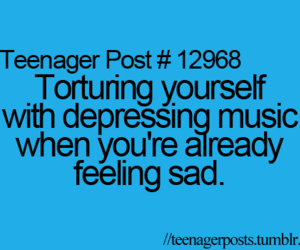sad and teenager post image