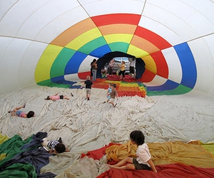 children, hot air balloon, and photography image