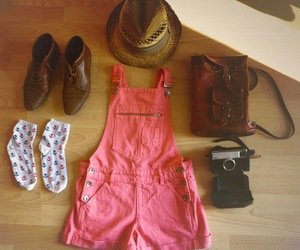 bag, boots, and dungarees image