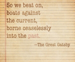boat, f scott fitzgerald, and gatsby image