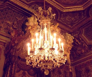 chateau, lustre, and versailles image