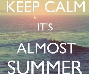 summer, keep calm, and beach image