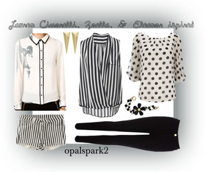 black and white, Polyvore, and shorts image