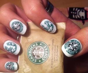 starbucks, nails, and coffee image