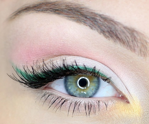 make up, eye, and eyes image