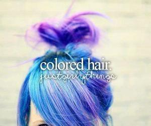 hair, just girly things, and blue image