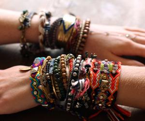 bracelet, hippie, and boho image