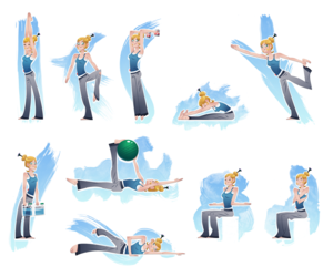 body, exercise, and exercises image