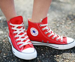 red, all star, and converse image