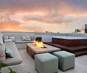 luxury, fire, and house image
