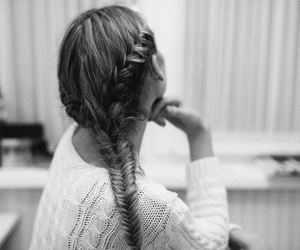 braid, fashion, and sweater image