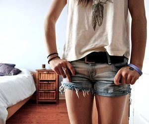 bed, fashion, and jeans image