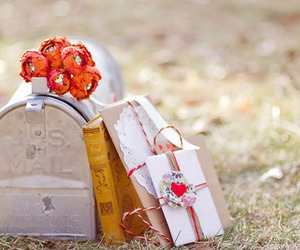 flowers, letters, and mail image