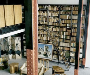 books, industrial, and interior image