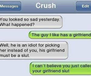 crush, message, and slut image